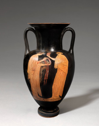 Greek red-figure Nolan amphora, Athens, 470-460 BC, attributed to the Painter of London E342 (Padgett)