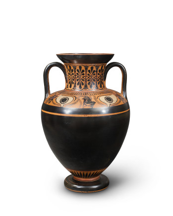 Greek black-figure eye amphora, Athens, c.530-520 BC, manner of the Antimenes Painter