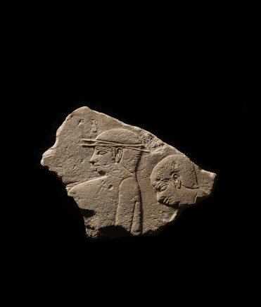 Egyptian relief fragment of a scribe, Old Kingdom, late 5th Dynasty, c.2400 BC
