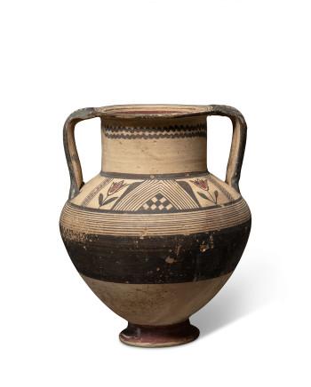 Cypriot Bichrome Ware amphora, Cypro-Archaic, c.750-600 BC