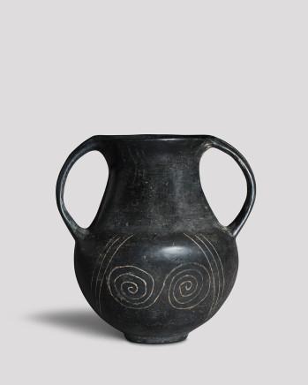 Etruscan bucchero ware amphora, late 7th century BC