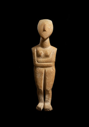 Cycladic female figure, Early Spedos, c.2600 BC, attr. to the Bent Sculptor