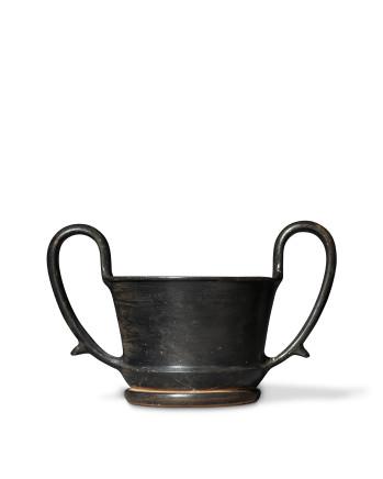 Greek black-glaze kantharos, Boeotia, c.450 BC