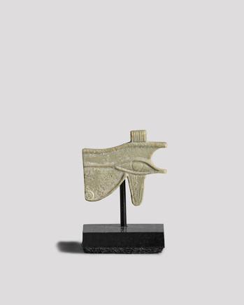 Egyptian udjat eye amulet, Late Dynastic Period, 25th-31st Dynasty, c.730-332 BC