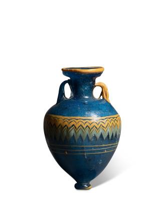 Greek core-formed amphoriskos, 5th century BC