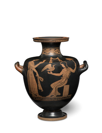 Greek red-figure hydria, c.4th century BC