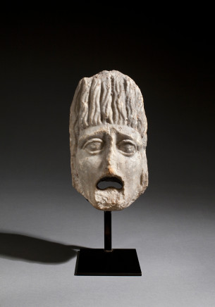 Roman architectural theatre mask, 1st-2nd century AD
