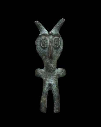 Piravend male horned figure, Iran, Luristan region, c.1000-750 BC