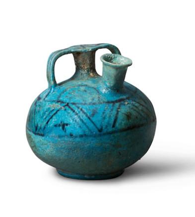 Egyptian stirrup jar, New Kingdom, late 18th Dynasty, c.1350 BC