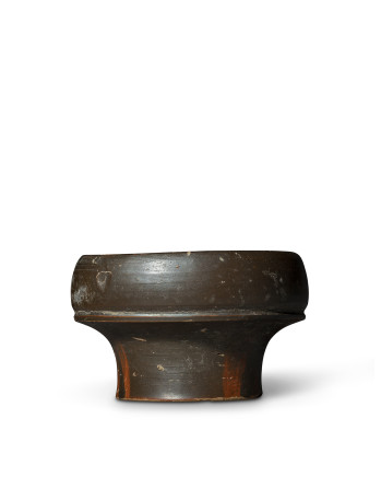 Greek black-glaze salt, South Italy, 4th century BC