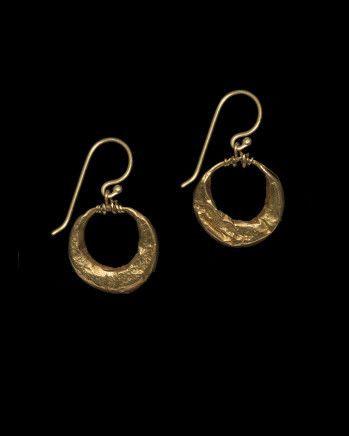 Roman hollow hoop earrings, c.2nd-3rd century AD