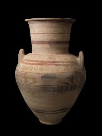 Cypriot Bichrome ware amphora , Cypro-archaic, 8th-7th century BC