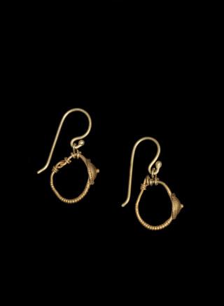 Pair of Roman earrings, c.2nd-3rd century