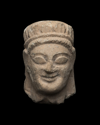 Cypriot head of a votary, 6th century BC