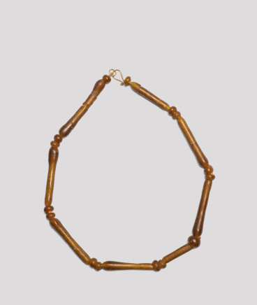 Egyptian amber coloured bead necklace, New Kingdom, 18th-20th Dynasty, 1550-1069 BC