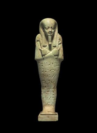 Egyptian shabti for Nefer-ib-re-sa-neith, Saqqara, Late Dynastic Period, 26th Dynasty, reign of Amasis II, c.570-526 BC