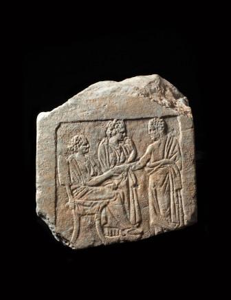 Greek grave stele fragment, 4th century BC