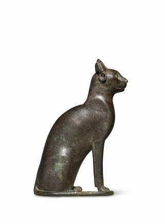 Egyptian cat, Late Dynastic Period, 26th Dynasty, Saite Period, c.664-525 BC