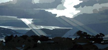 Ann Lewis RCA, O'r tywyllwch, Dyffryn Conwy (From the darkness, Conwy Valley)