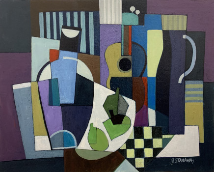 Peter Stanaway MAFA, Still Life With Guitar, 2020