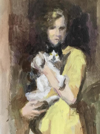 Linda Schwab, Unknown Woman with Cat, 2020