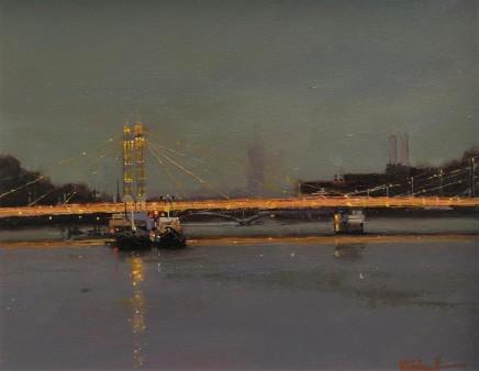 Michael Ashcroft MAFA, Albert Bridge By Night, London