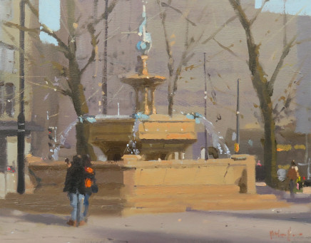 Michael Ashcroft MAFA, Selfie, Alberts Square, Manchester