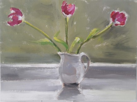 Liam Spencer, Tulips in a Grey Jug