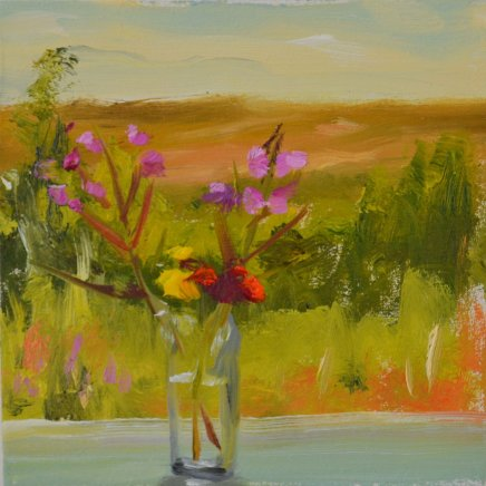 Liam Spencer, Rose Bay Willow Herb and Landscape, 2018