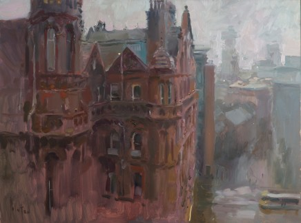 Rob Pointon ROI, Midland Hotel in the Mist, 01/2020