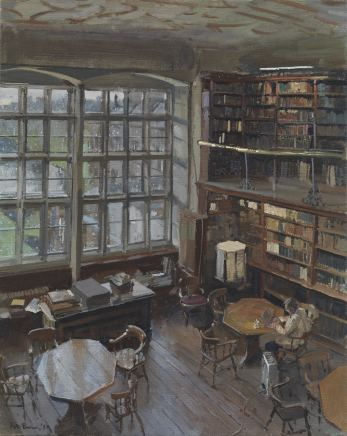 Peter Brown ROI NEAC, The Square Library 1 (The Scholar in the Library)