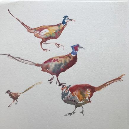 Sue Platt, Pheasant Frenzy (49), 2021