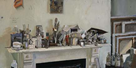 Peter Brown ROI NEAC, Studio Mantle Clutter, 2012