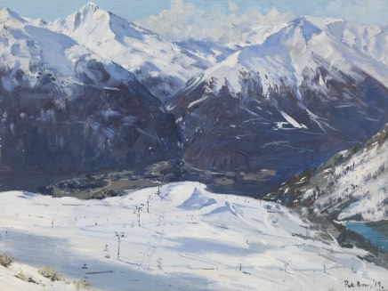 Peter Brown ROI NEAC, From the Top, Aussois, French Alps
