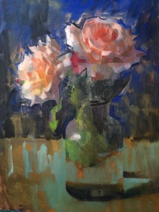 James Bland NEAC, Roses on Ultramarine