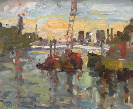 Adam Ralston MAFA, Sunset From Chelsea Bridge II, 2018