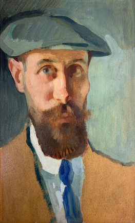 Pierre Adolphe Valette, Self-Portrait with Cap