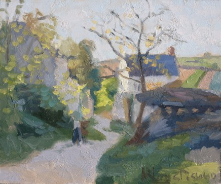 Norman Long MAFA, The Great Walnut Tree, Pontoise, After Pissarro