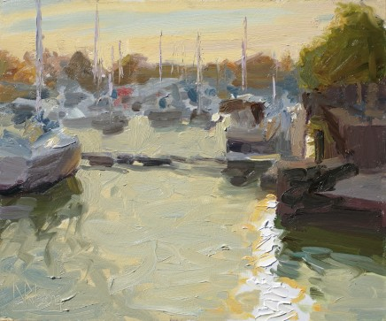 Norman Long MAFA, Boats at Sundown, Preston Marina