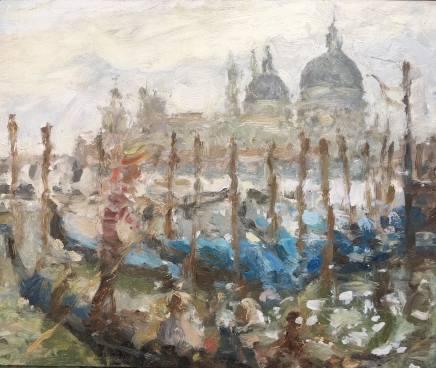 Adam Ralston MAFA, Gondolier On The Grand Canal