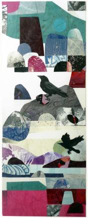Ann Lewis, Welsh coast crows, 2020