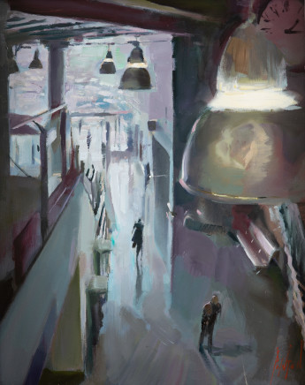 Rob Pointon ROI RBSA MAFA, Lights Below Piccadilly