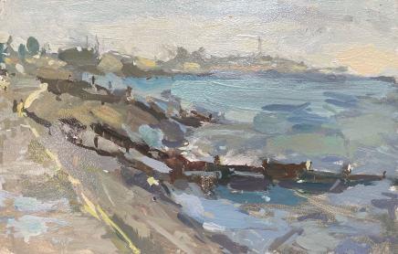 Adam Ralston MAFA, Rossall Beach, Sea In