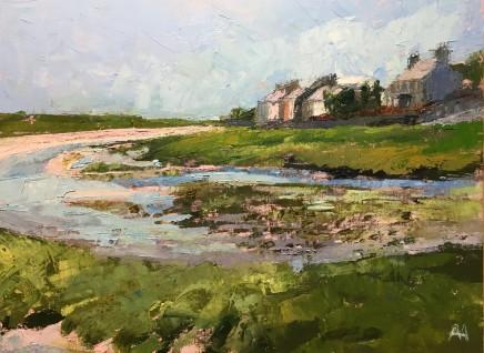 Anne Aspinall MAFA, Winding to the Sea, Aberffraw, 2020