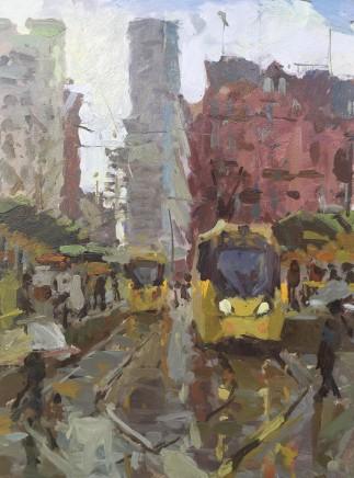 Adam Ralston MAFA, Wet Day, St. Peter's Square, 2019