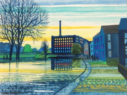 Jean Hobson, Early Morning at the Mill, 2020