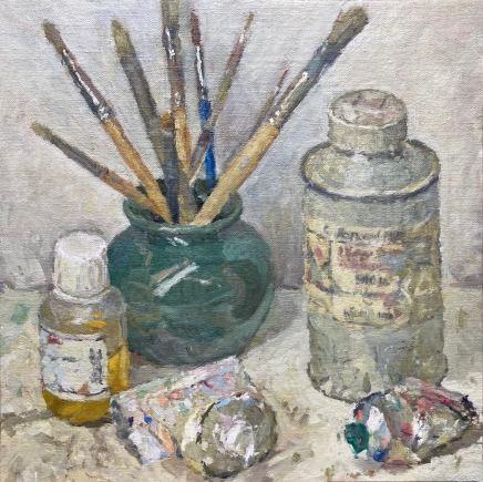 Adam Ralston MAFA, Brushes, Turps and Paint