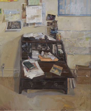 Peter Brown ROI NEAC, Combe Park Study with the Udaipur Sunset Painting