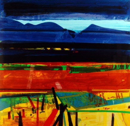 Barbara Rae RA, Achill Fence, 2013