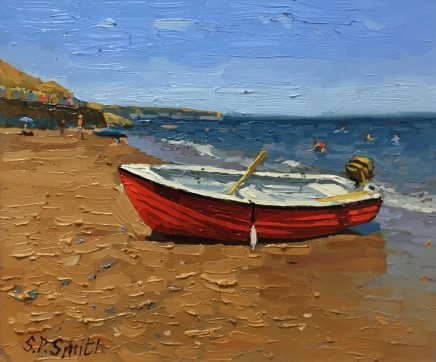 Steven Smith, Red Boat on Whitby Beach